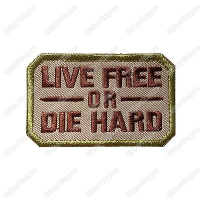 WG136 Live Free Or Die Hard Morale Patch With Velcro - Full Color