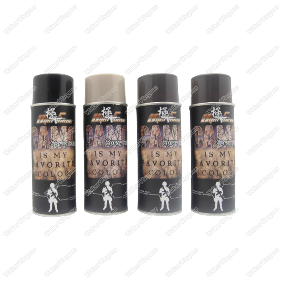 Ultraforce Camouflage Spray Paint (Flat Black/Brown/Khaki/OD Green) 450ML for GBB/Airsoft