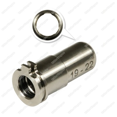 Maxx CNC Titanium Adjustable Air Seal Nozzle 19mm - 22mm For Airsoft AEG Series