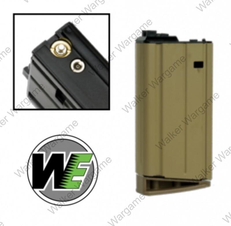 WE Tech SCAR H MK17 30rds GBB Mag Green Gas Airsoft Mag Tan