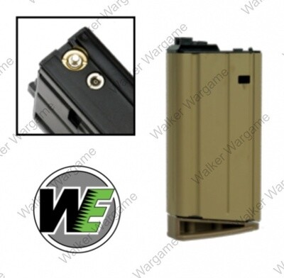 WE Tech SCAR H MK17 30rds GBB Mag Green Gas Airsoft Mag Tan