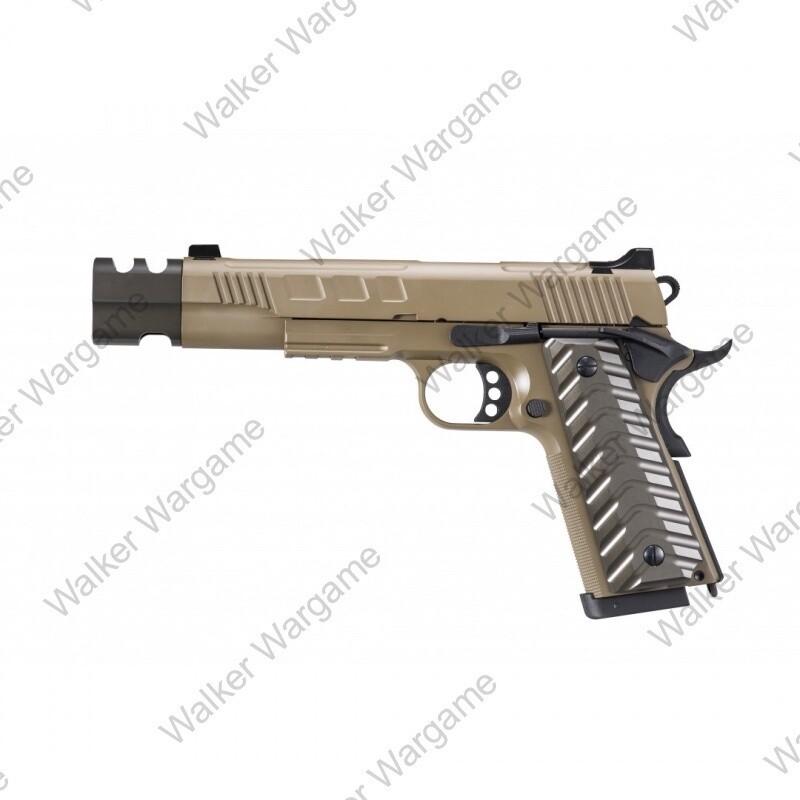 KJW 1911 Hitman GBB Pistol KP-16 With Compensator