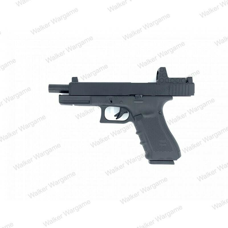 WE Tech Glock 34 Gen 5 MOS GBB Pistol With Red Dot RMR Scope