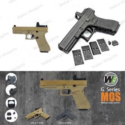 WE Tech Glock 17 Gen 5 MOS GBB Pistol With Red Dot RMR Scope