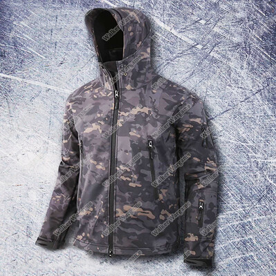 US Special Forces Soft Shell Combat Jacket Multi Camo Black. MCBK