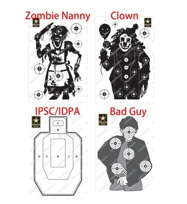 A3 A2 Size Paper Shooting Target Pistol,Rifle,Airsoft Target - IPSC IDPA