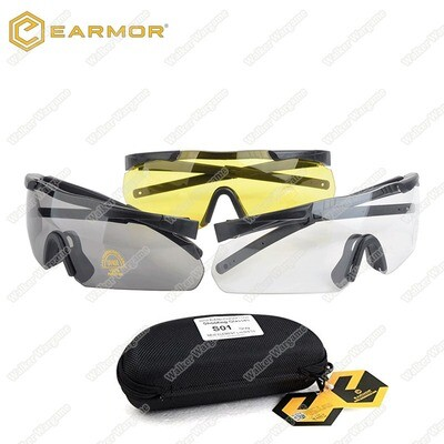 EarMOR S01 Shooting Glasses ANSI Z87.1 With Case