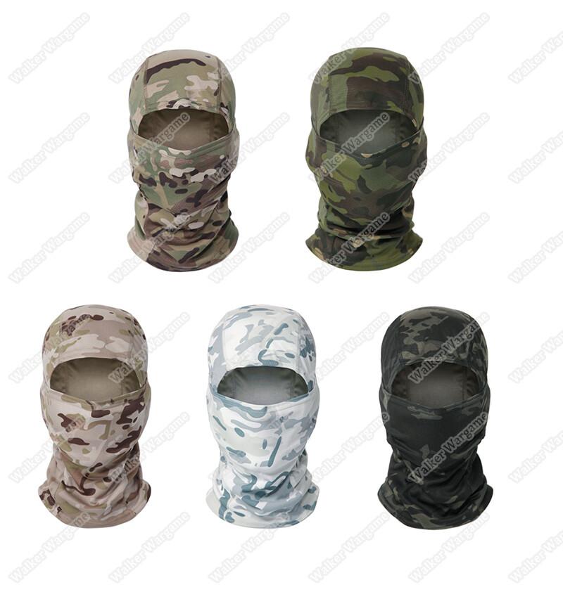 Balaclava Hood 1 Hole Head Face Mask - Multicam