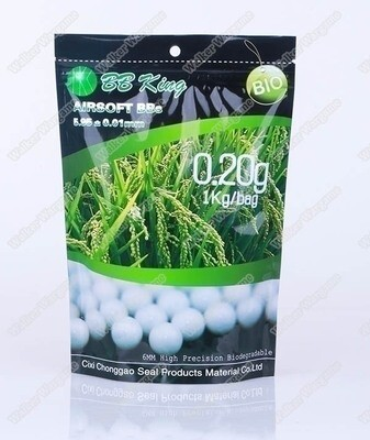 BB King 0.20g Biodegradable Airsoft 6mm BB 1KG Pack