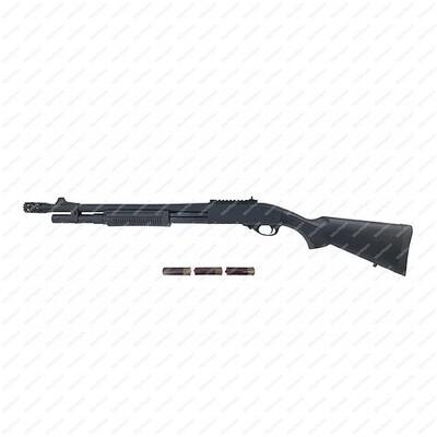 Golden Eagle Full Metal M870 Gas 3/6 Shot Pump Action Shotgun (BK)