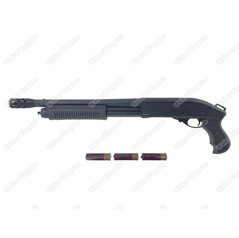 Golden Eagle 8881  M870 SF Gas 3/6 Shot Pump Action Shotgun (BK)