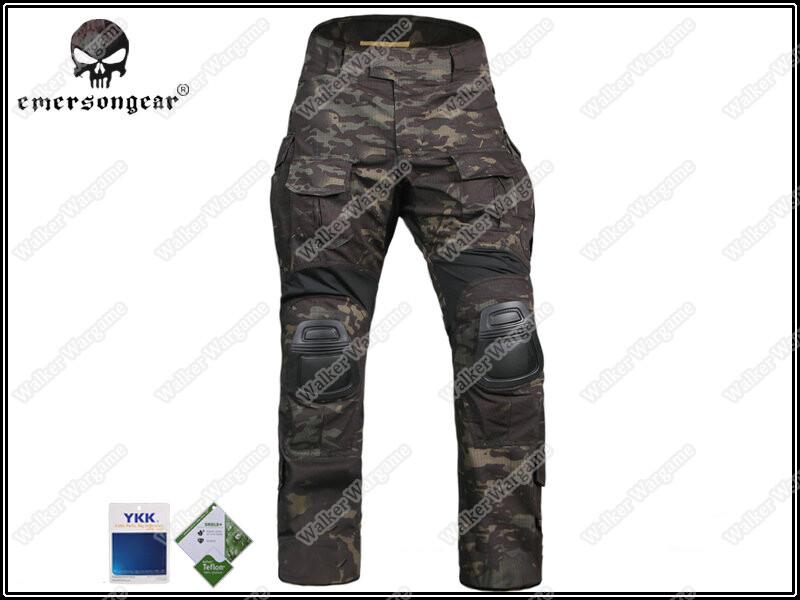 Combat Pants Build In Knee Pads - Multicam Black MCBK