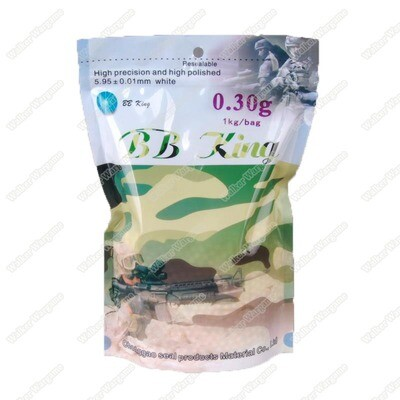 BB King Airsoft 6mm 0.30g BB 3300rds High Quality BB - White