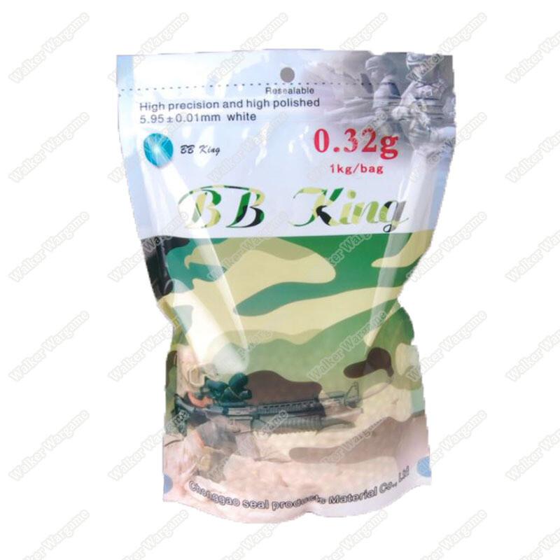 BB King Airsoft 6mm 0.32g BB 3100rds High Quality BB - White
