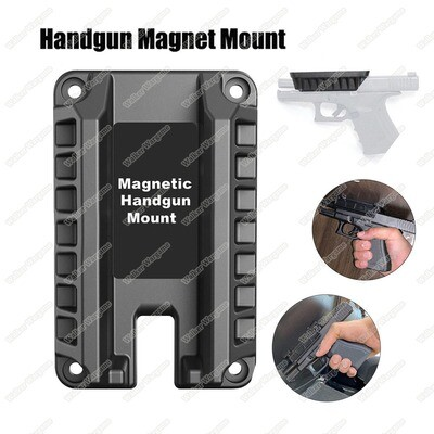 Magnetic Gun Mount & Holster for Vehicle, Home or Office- Firearm Accessories