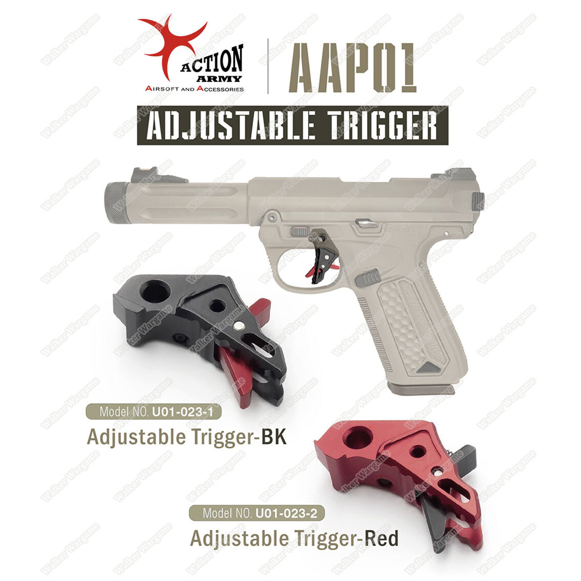 Action Army AAP01 Pistol Adjustable Trigger