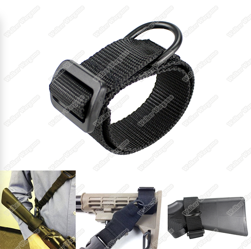 Rifle Butt Stock D Belt - Sling Belt D Ring
