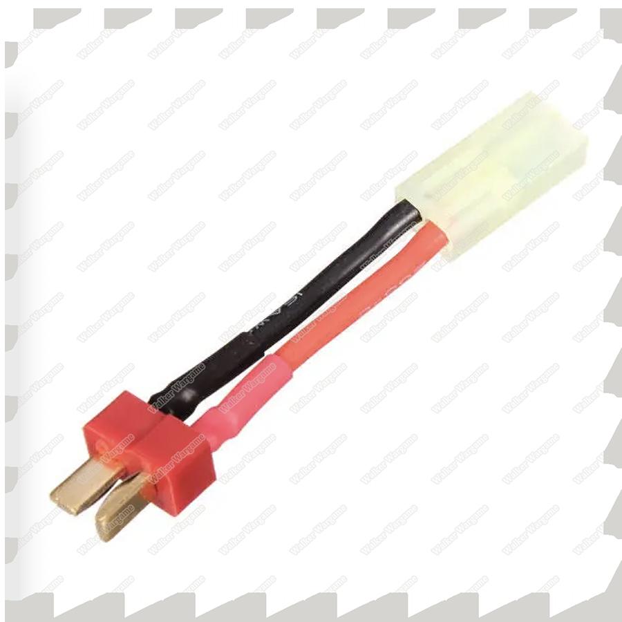 Small Tamiya Plug To DEANS T-plug Convertor - T Male to Tamiya Female