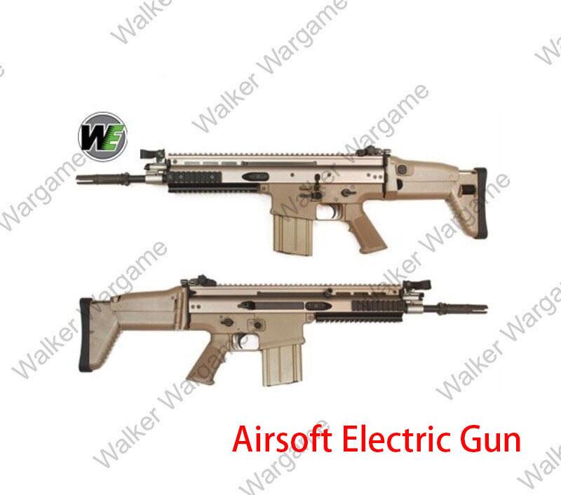 WE FN SCAR H CQC FN Herstal MK17  AEG Rifle – Tan