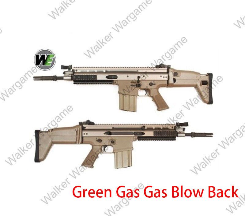 WE tech SCAR H FN Herstal MK17 Gas Blowback Airsoft Rifle