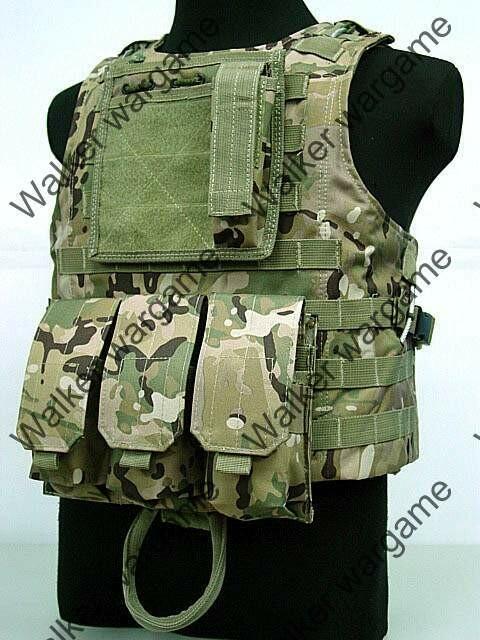 USMC FSBE Molle Combat Assault Plate Carrier Vest  - Multicam