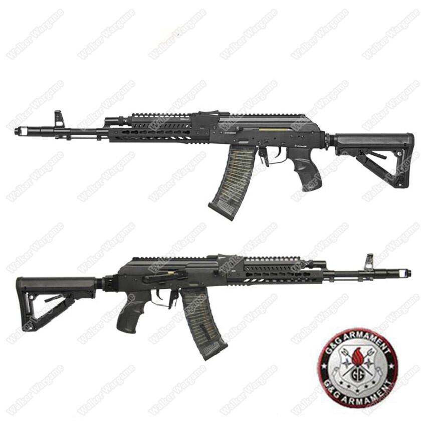 G&G Tactical RK74 T KeyMod AK Carbine AEG Airsoft Gun Build In ETU MOSFET - Black