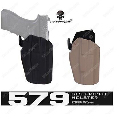 Emerson 579 Holster Grip Lock System Pro Fit Handgun Righthand Holster w/ Belt Clip Customizable & Adjust Fit Most Pistol