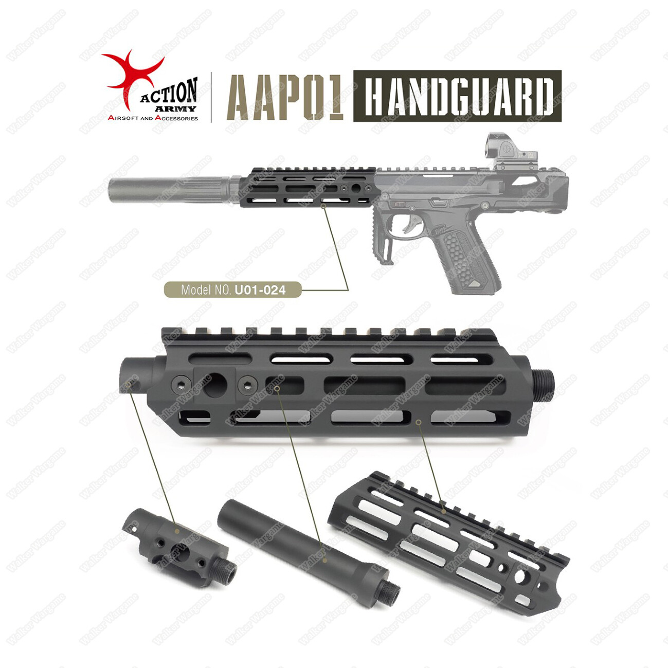 Action Army AAP01 SMG Handguard Set