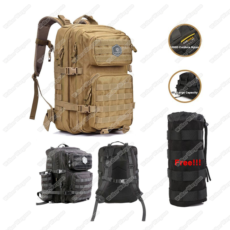 Emerson 45L Combat Molle Bag With Rain Cover Free Water Molle Pouch
