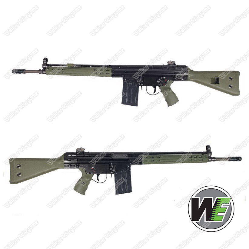 WE G3A3 Airsoft Gas Blow Back GBB Rifle - Umarex HK Licensed