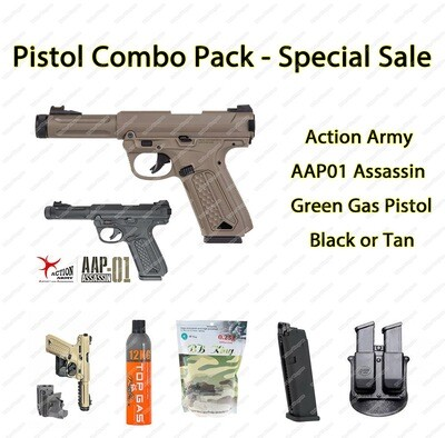 Pistol Combo Pack - AAP GBB with BB, Gas, Mag, Holster Save R910.00