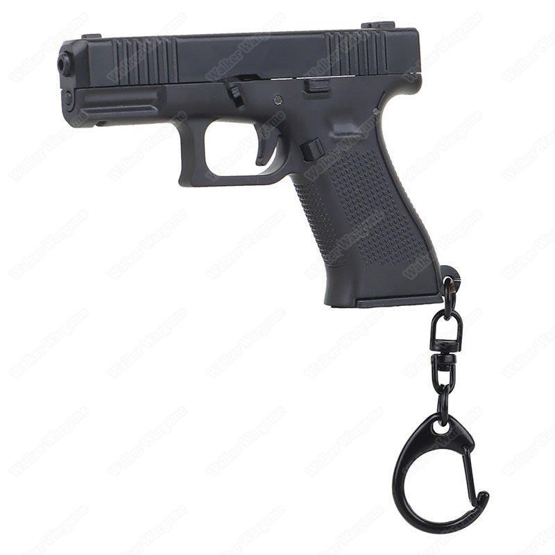 1:4 Glock Pistol Key Ring Keychain - Black