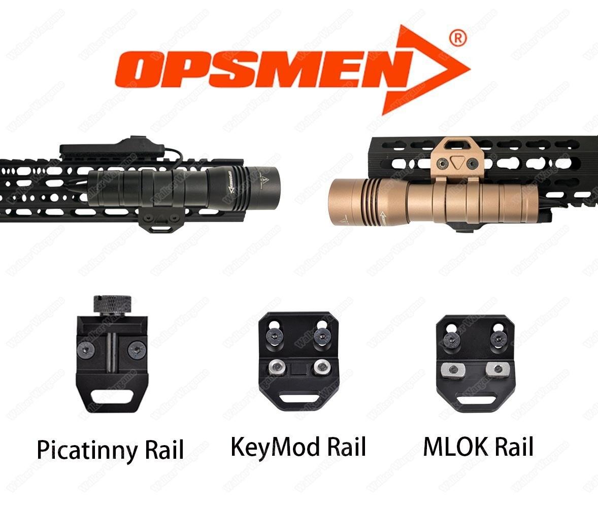 Opsmen FAST 502 Compact  Flashlight 800 Lumens (KeyMod, MLOK, Picatinny Rail)