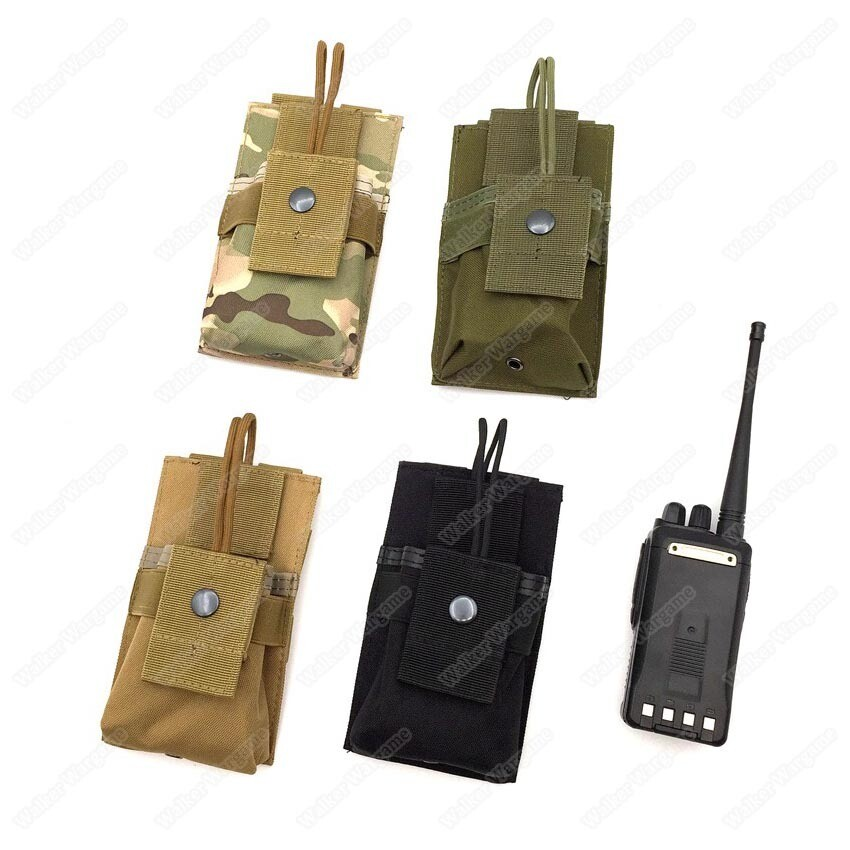 Tactical Molle Short Radio Pouch - Multi Color Fit Radio , Mag