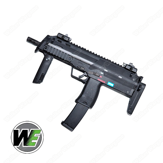 WE SMG8 MP7 Green Gas Blow Back SMG - Black New Model