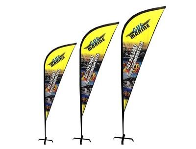 Sharkfin Banner 3m (Pair of 2)
