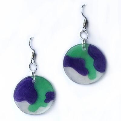 Blob Violet Green