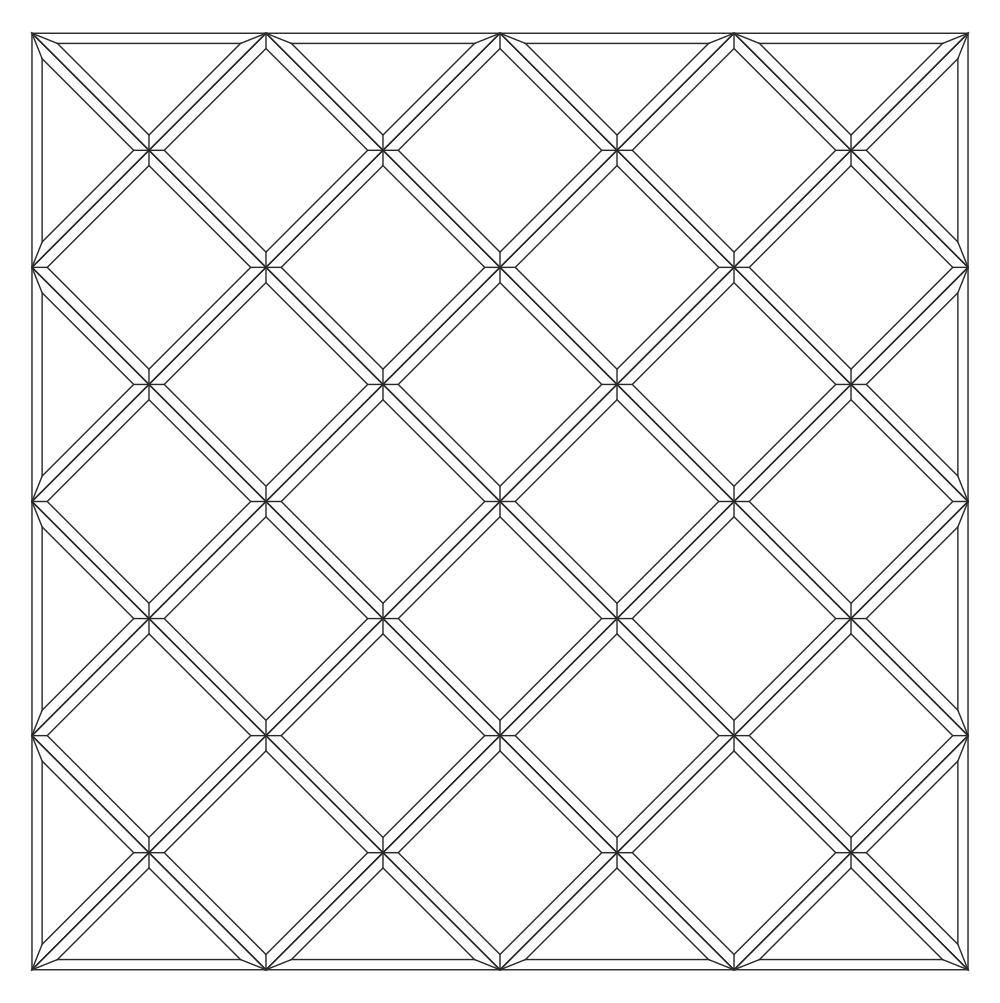 Зеркальное панно 1416 x 1416 мм
