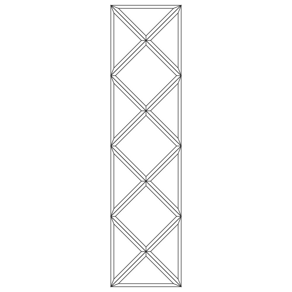 Зеркальное панно 1416 x 354 мм