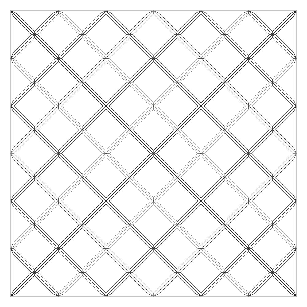 Зеркальное панно 1701 x 1701 мм