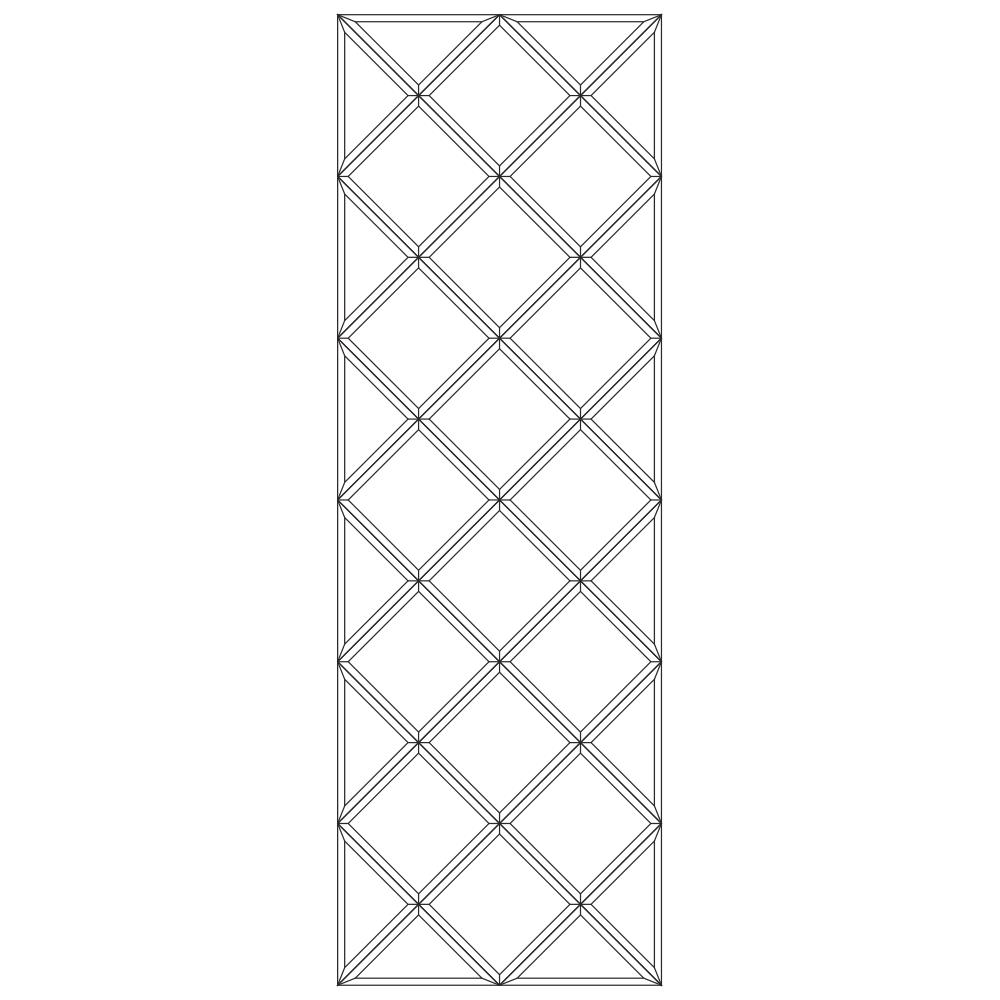 Зеркальное панно 1701 x 567 мм