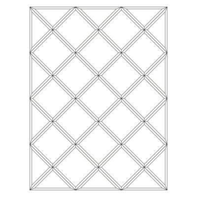 Зеркальное панно 1416 x 1062 мм