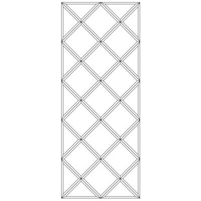 Зеркальное панно 2124 x 850 мм