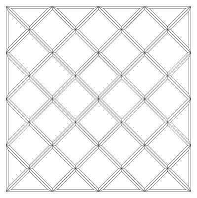 Зеркальное панно 1133 x 1133 мм