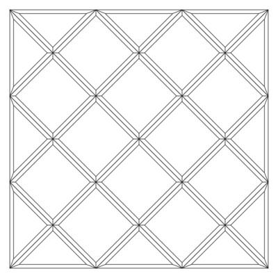 Зеркальное панно 1062 x 1062 мм