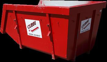 Open 10m3 Container voor sloophout