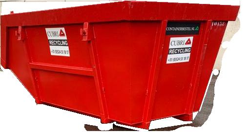 Open 10m3 Container voor Bouw- en sloopafval