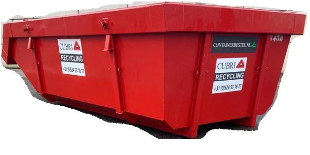Open 6m3 Container voor Grondafval