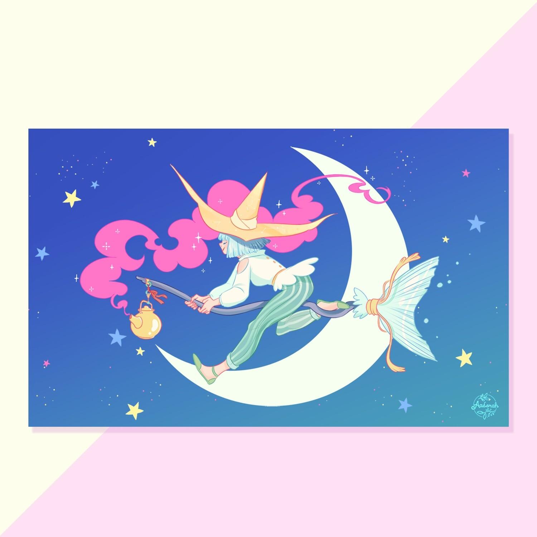 Print - Mermaid Broom