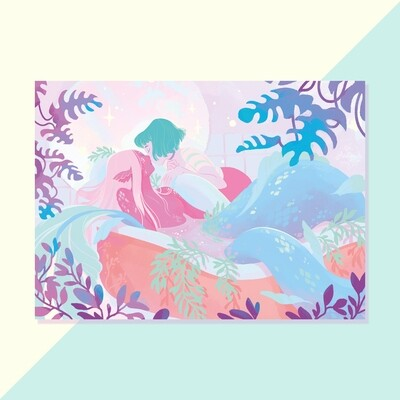 Print - Mermaid Kiss